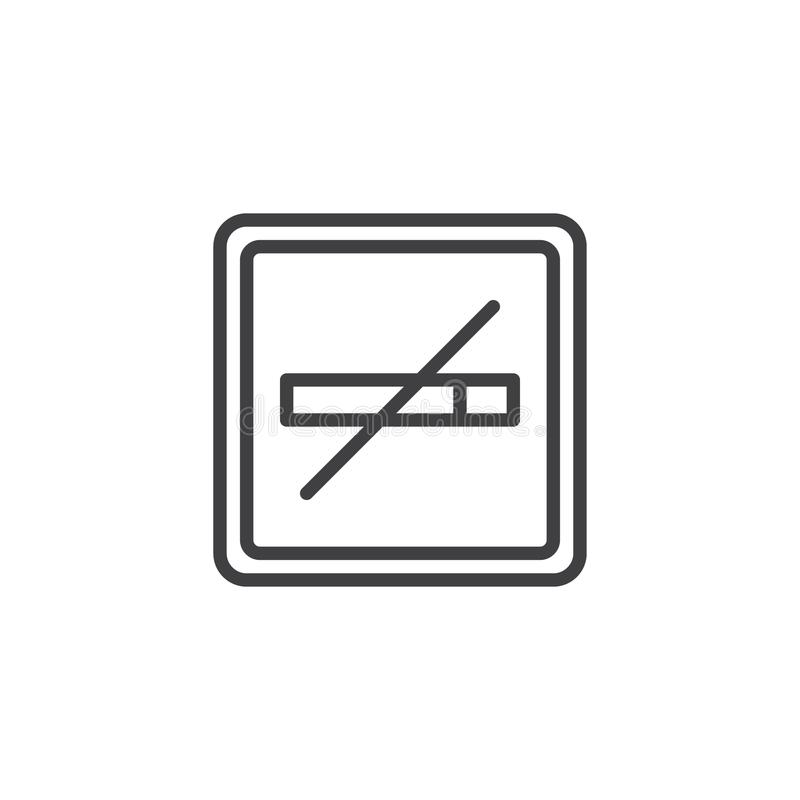 Ligne non-fumeurs icône illustration stock