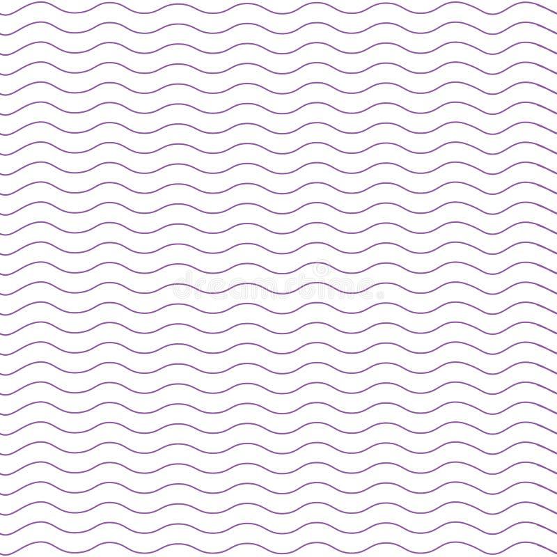Ligne onduleuse illustration de vecteur de modèle Ligne ondulée Profil onduleux Configuration géométrique Fond sans couture Textu illustration stock