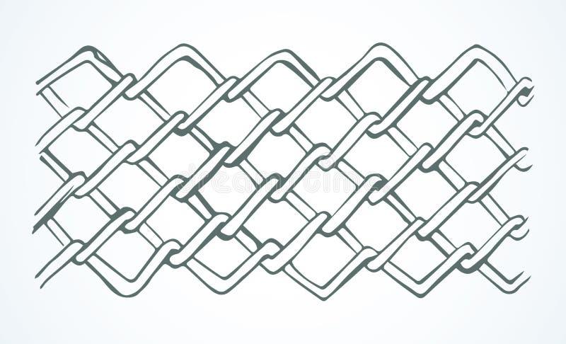 Ligne onduleuse sans couture modèle de vecteur noir illustration libre de droits