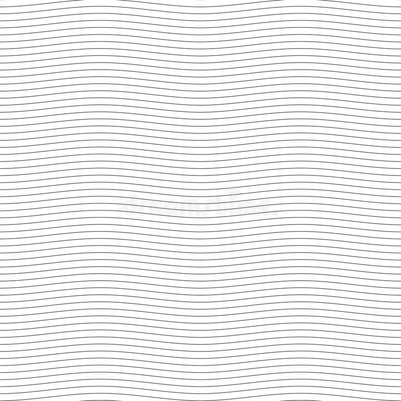 Ligne onduleuse sans couture noire illustration de vecteur de modèle illustration stock