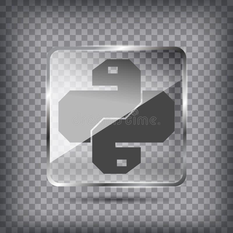 Ligne plate concept graphique d'image de conception de verre Pyt de transparent illustration libre de droits