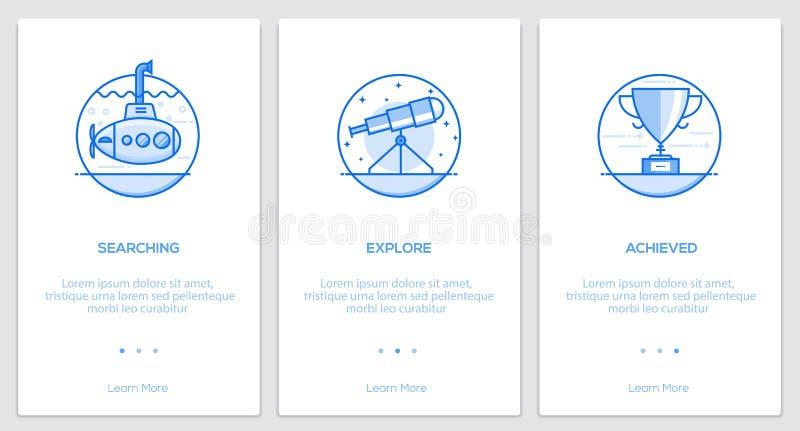 Ligne plate concepts d'Oneboarding illustration libre de droits