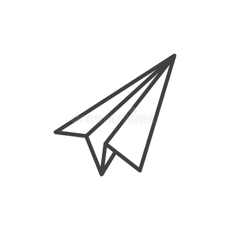 Ligne plate de papier icône, signe de vecteur d'ensemble illustration libre de droits