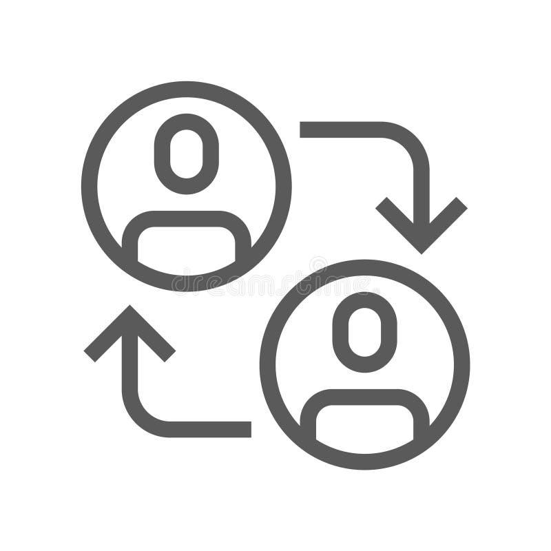 Ligne plate icône de direction et de vecteur de gestion d'entreprise Avancement de carrière Course Editable pixel 48x48 parfait illustration libre de droits