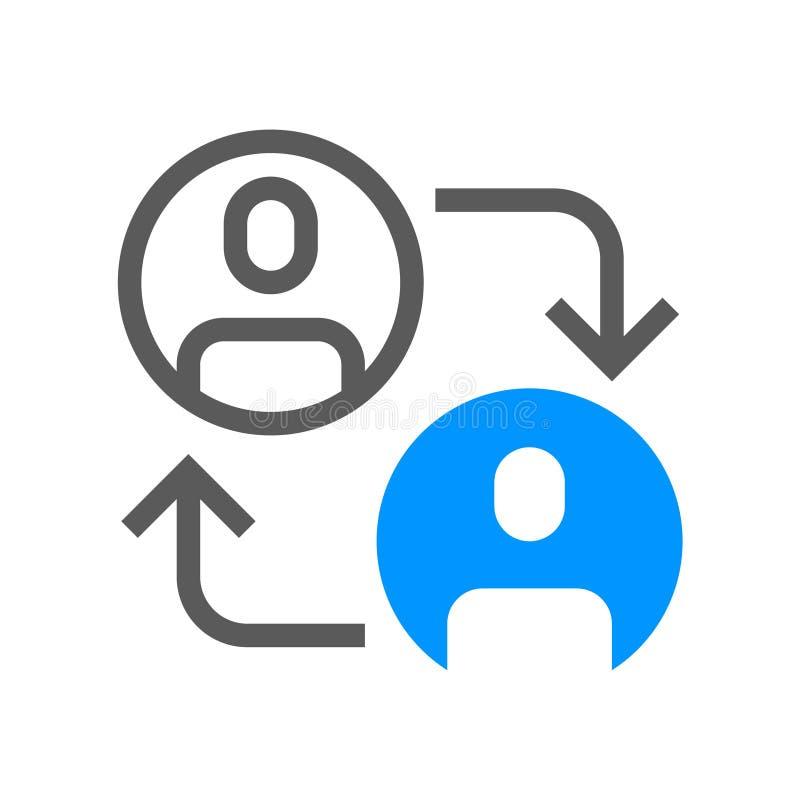 Ligne plate icône de direction et de vecteur de gestion d'entreprise Avancement de carrière Course Editable pixel 48x48 parfait illustration stock