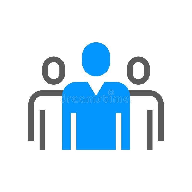 Ligne plate icône de direction et de vecteur de gestion d'entreprise collectif Course Editable pixel 48x48 parfait illustration stock