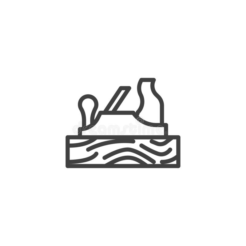 Ligne plate icône de main illustration stock