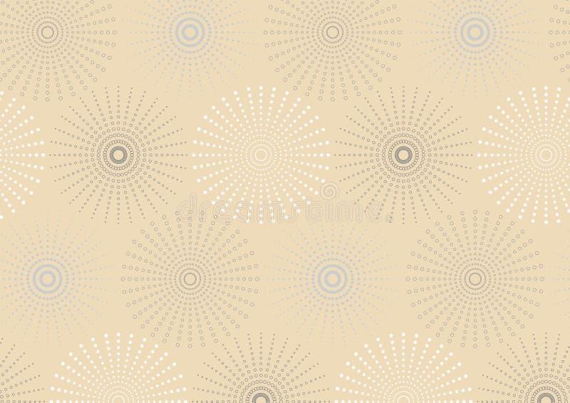 Ligne pointillée modèle sans couture géométrique sphérique illustration libre de droits