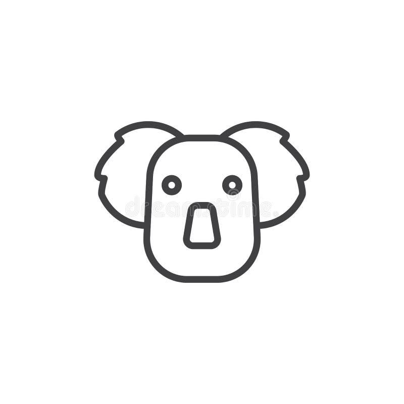 Ligne principale icône de koala illustration de vecteur