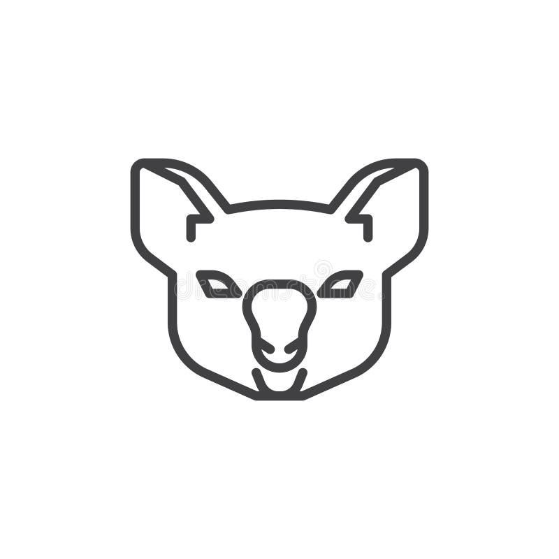 Ligne principale icône de koala illustration libre de droits