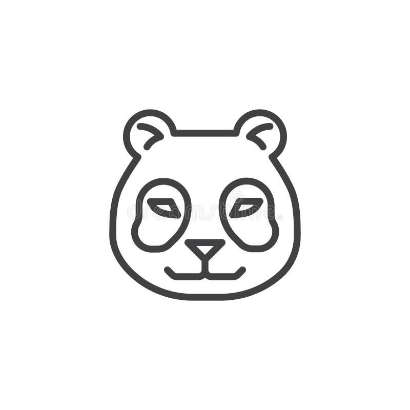 Ligne principale icône de panda illustration de vecteur