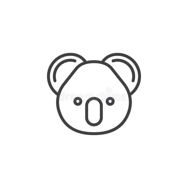 Ligne principale icône, signe de koala de vecteur d'ensemble illustration de vecteur