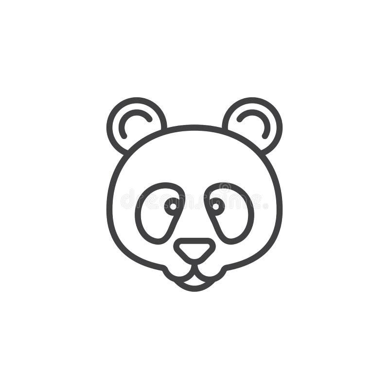 Ligne principale icône, signe de panda de vecteur d'ensemble illustration stock