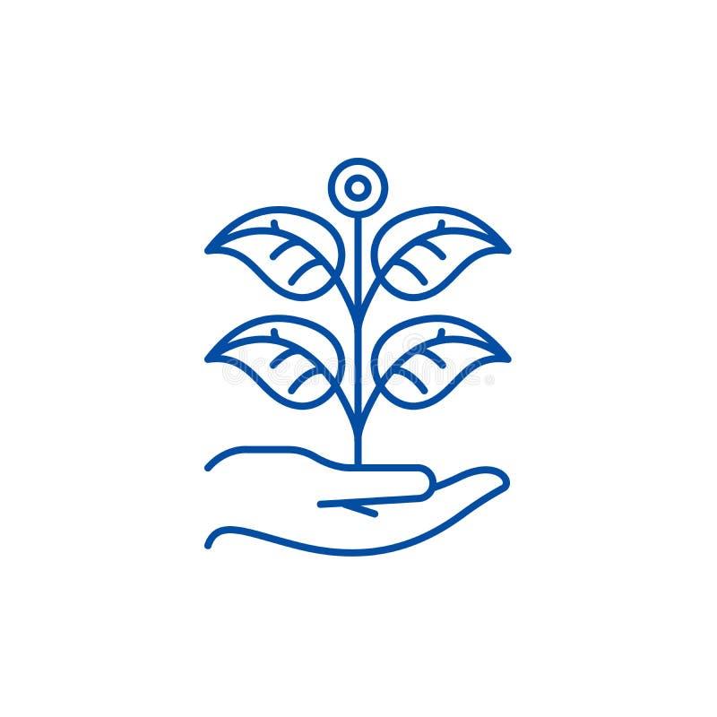 Ligne privée concept de jardin d'icône Symbole plat de vecteur de jardin privé, signe, illustration d'ensemble illustration libre de droits