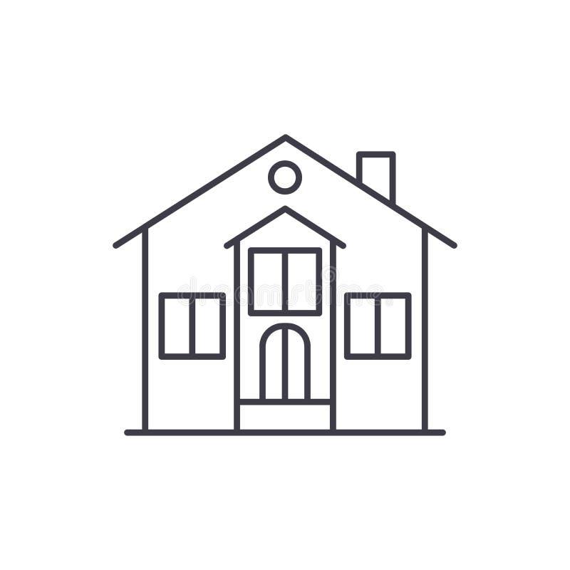 Ligne privée concept de maison d'icône Illustration linéaire de vecteur privé de maison, symbole, signe illustration de vecteur