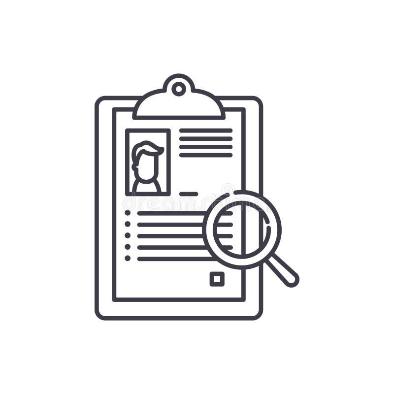 Ligne récapitulative concept d'icône Illustration linéaire de vecteur récapitulatif, symbole, signe illustration stock