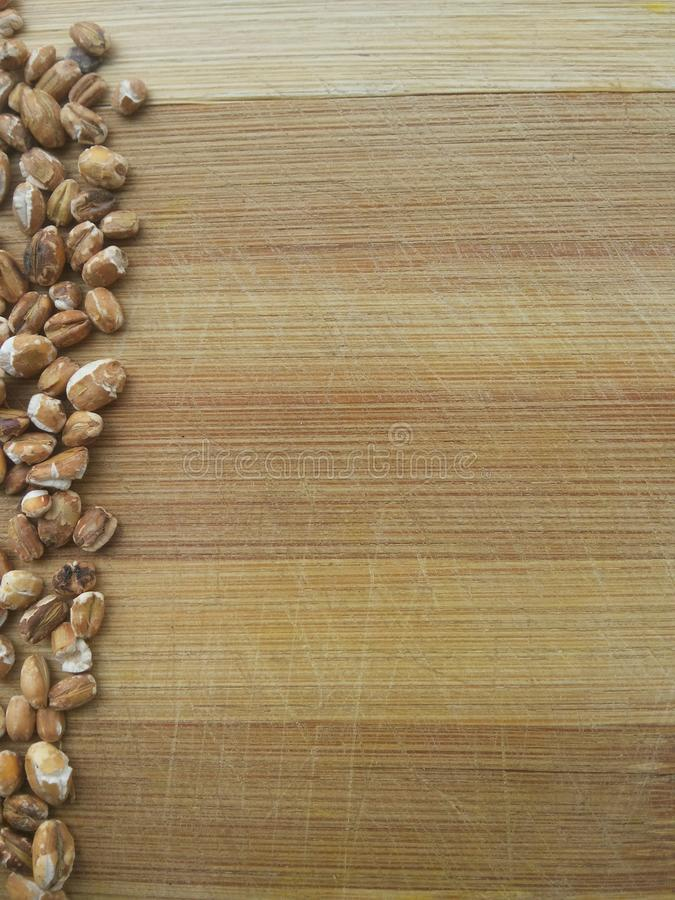 Ligne rôtie de grain d'avoine photographie stock
