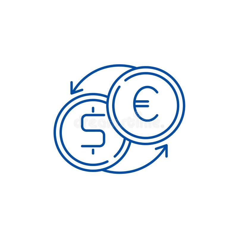 Ligne rapide concept de change d'icône Symbole plat rapide de vecteur de change, signe, illustration d'ensemble illustration libre de droits