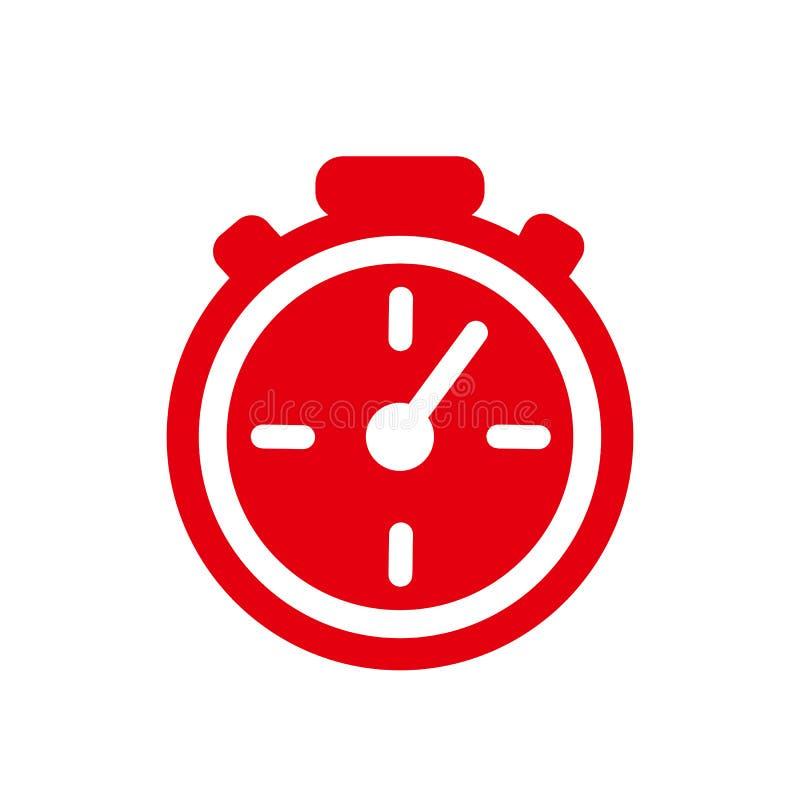 Ligne rapide ic?ne de chronom?tre Signe rapide de temps Urgence de symbole d'horloge de vitesse, date-butoir, gestion du temps, s illustration libre de droits