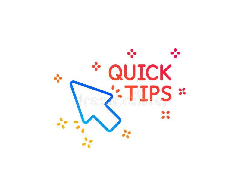 Ligne rapide ic?ne de clic d'astuces Signe utile de tours Vecteur illustration de vecteur