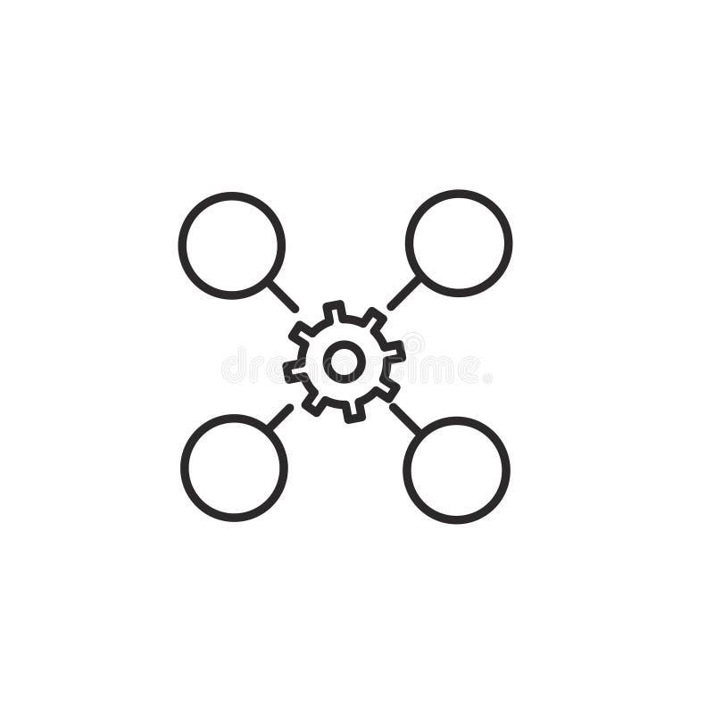 Ligne relative icône de vecteur de stratégie commerciale image stock
