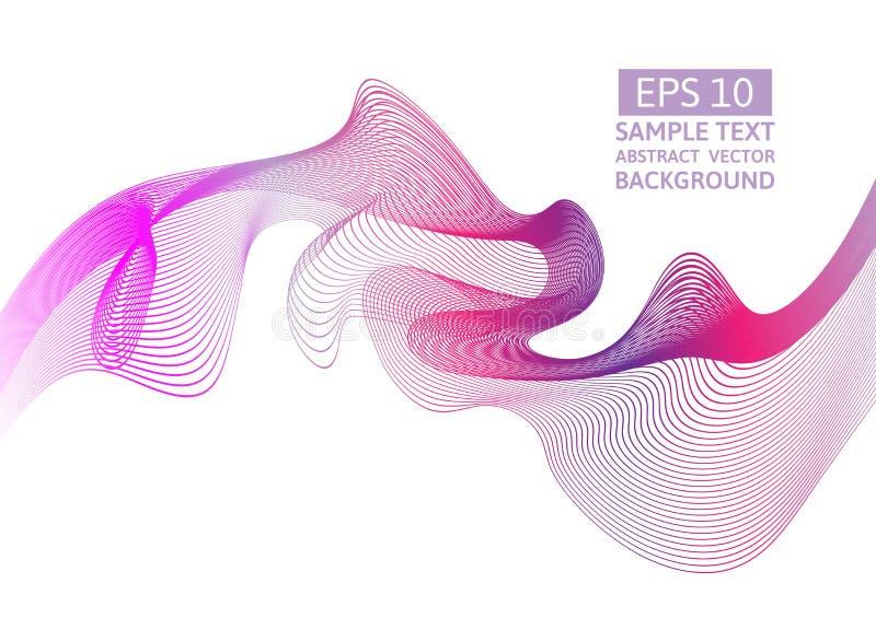 Ligne rose fond de vecteur d'abrégé sur vague avec l'espace de copie illustration libre de droits