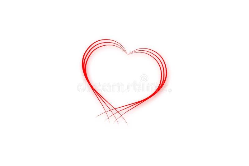 Ligne rouge coeur illustration stock