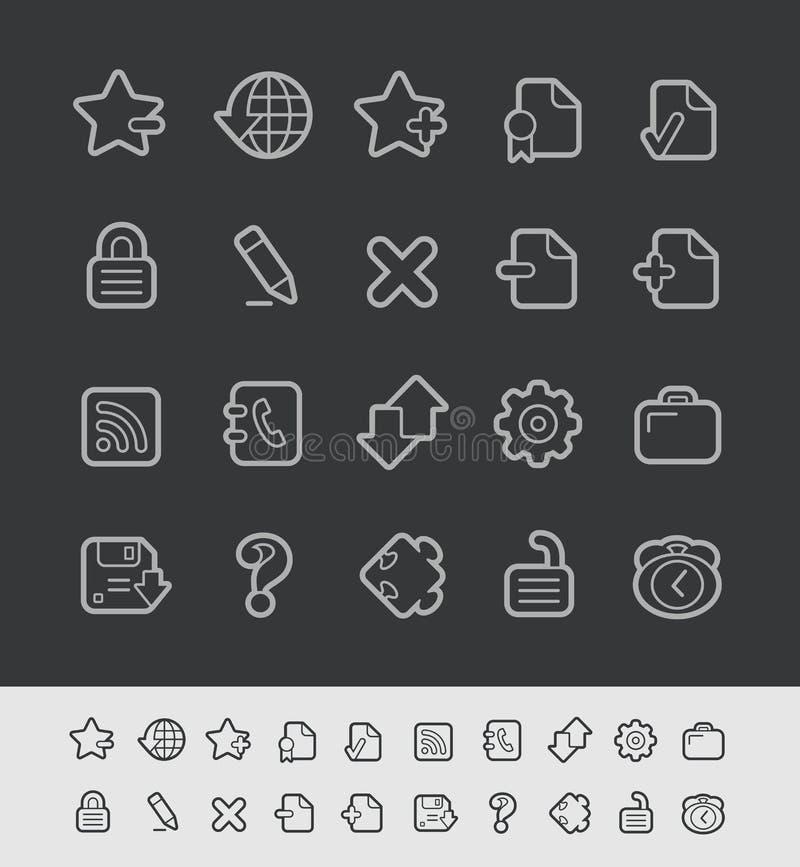 Ligne série de noir de //d'icônes de Web illustration libre de droits