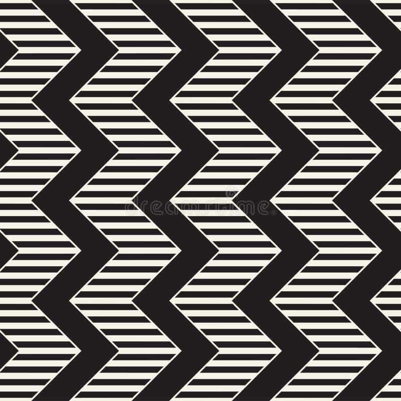 Ligne sans couture modèle de zigzag de vecteur Fond géométrique élégant abstrait Répétition du fond de trellis illustration stock