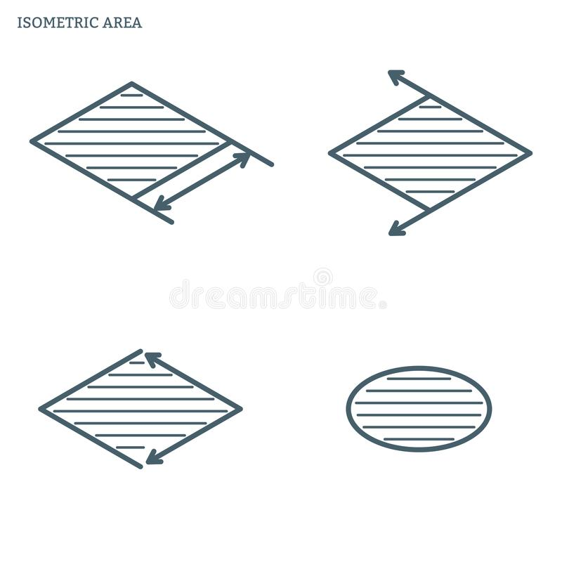 Ligne secteur isométrique illustration libre de droits