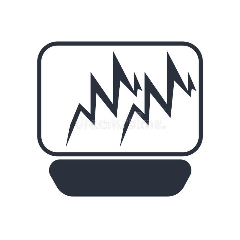 Ligne signe et symbole d'impulsion de vecteur d'icône d'isolement sur le fond blanc, ligne concept d'impulsion de logo illustration libre de droits