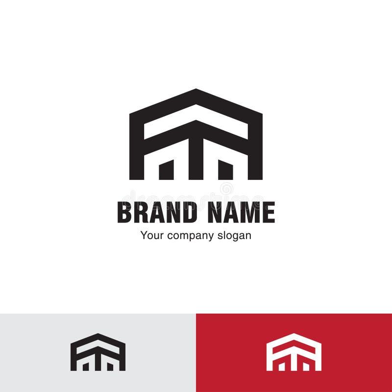 Ligne simple logo de maison illustration stock