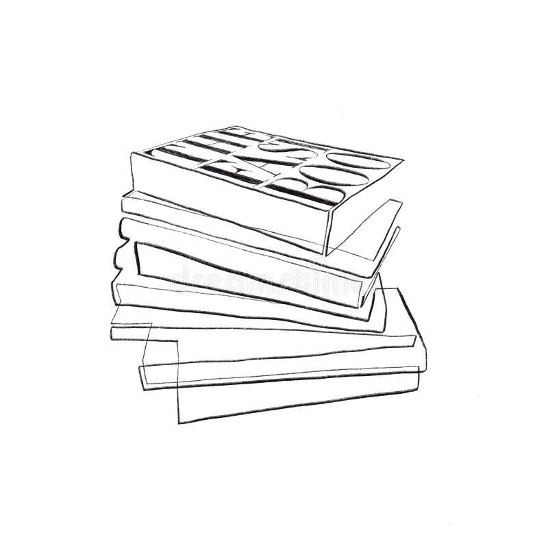 Ligne simple revues de mode illustration de vecteur