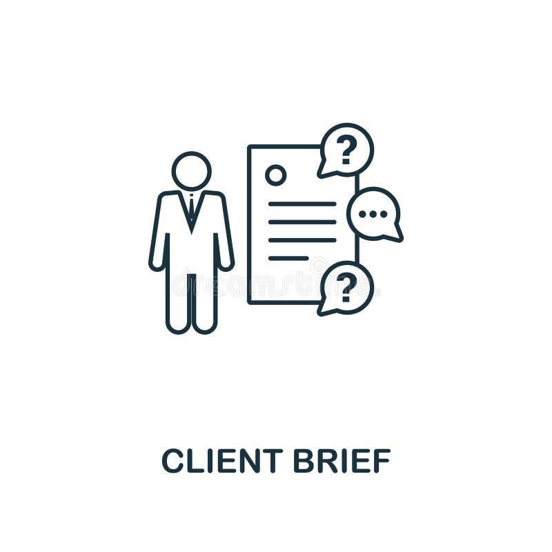 Ligne style mince d'icône de dossier de client Symbole de la collection de commercialisation en ligne d'icônes Icône de dossier d illustration stock