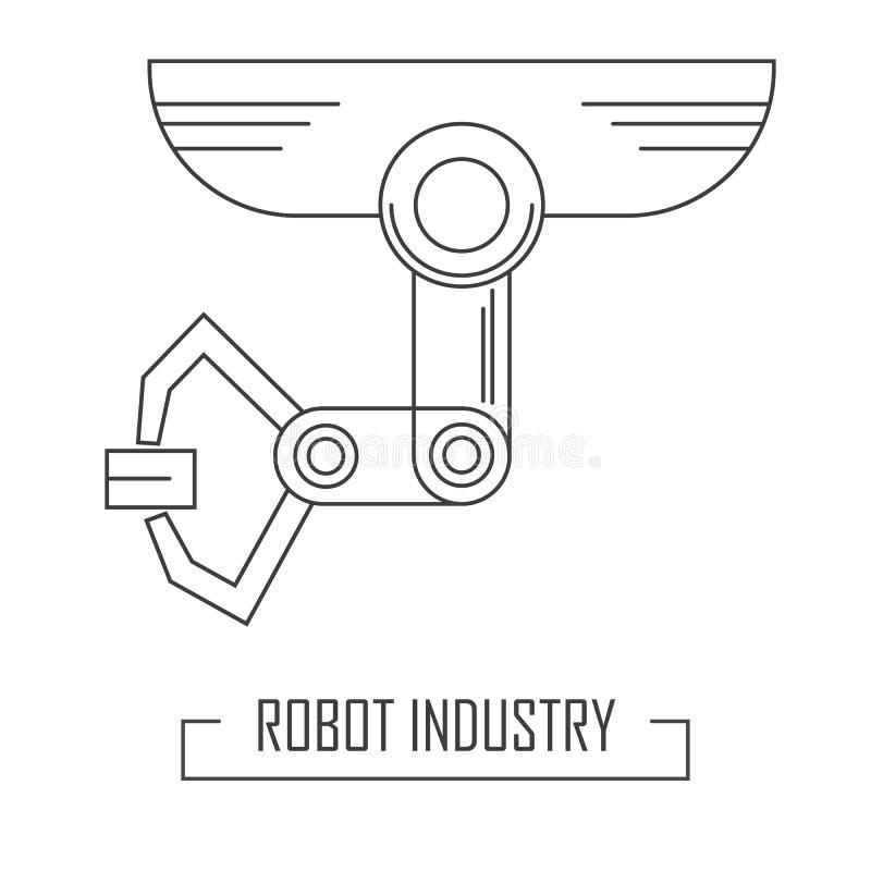Ligne style moderne avec l'industrie robotique illustration stock