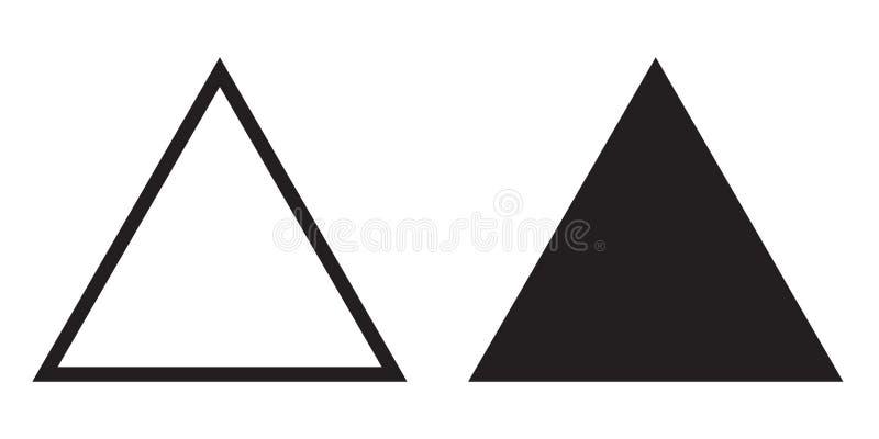 Ligne triangle de vecteur d'icône de triangle équilaterale illustration stock
