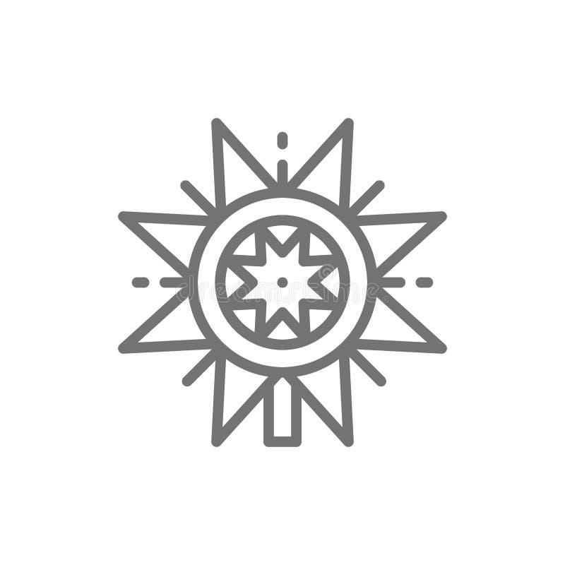 Ligne ukrainienne icône d'étoile de vertep de Noël illustration libre de droits
