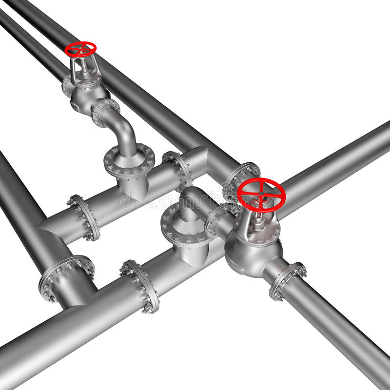 Ligne valves de tuyau illustration stock
