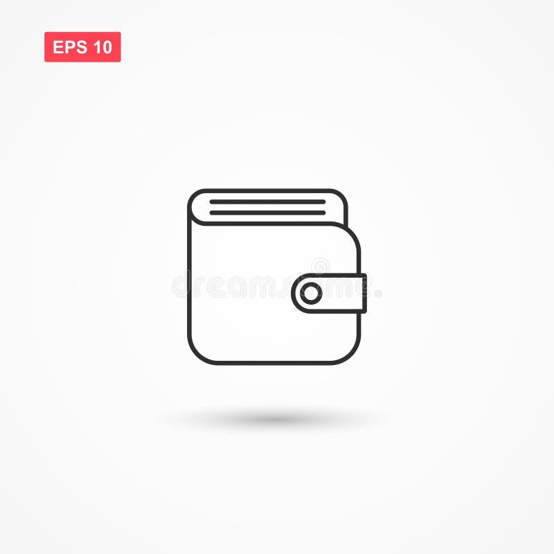 Ligne vecteur 2 de portefeuille d'icône illustration de vecteur