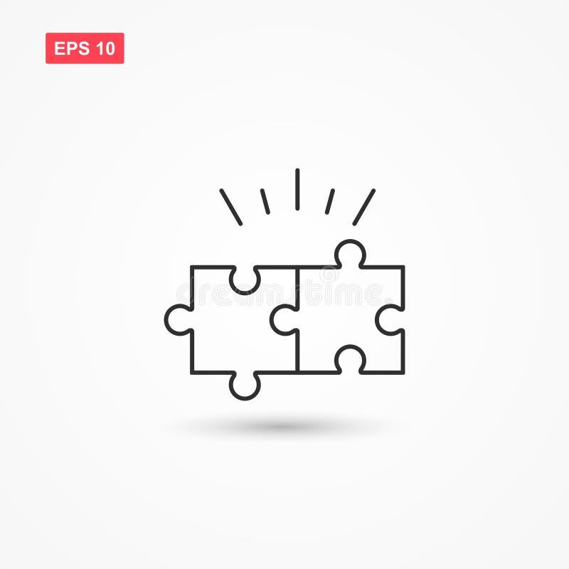 Ligne vecteur 1 de puzzle d'icône illustration stock