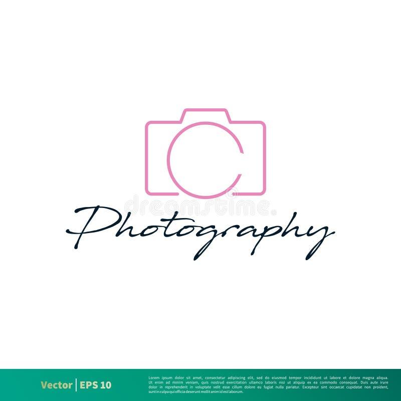 Ligne vecteur Logo Template Illustration Design de caméra d'icône de photographie Vecteur ENV 10 illustration de vecteur