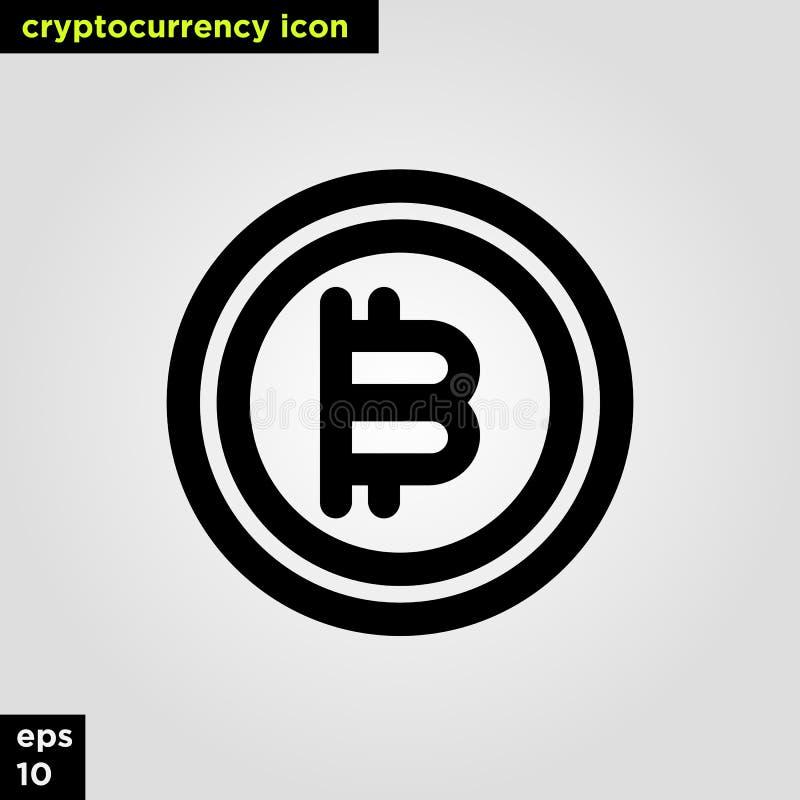 Ligne version d'ensemble de pièce de monnaie d'icône de Cryptocurrency Signe et symbole modernes de technologie de réseau informa photographie stock