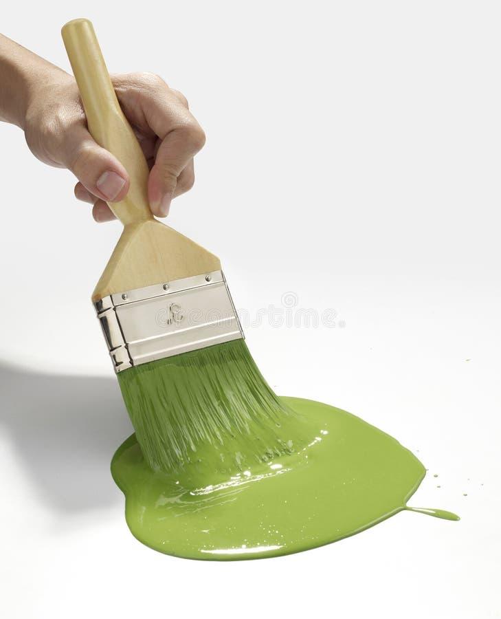 Ligne Verte de peinture image libre de droits