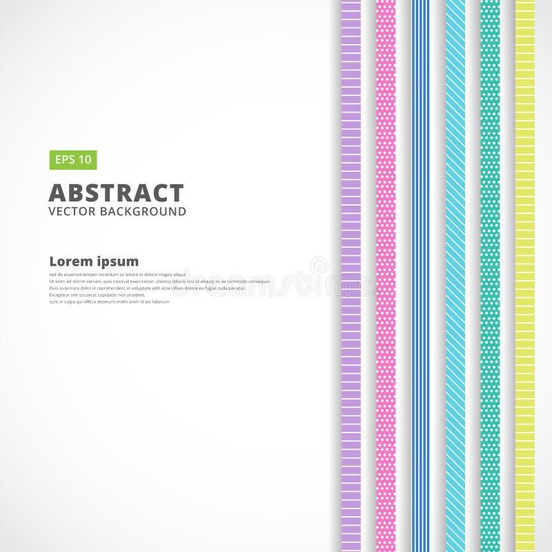 Ligne verticale abstraite couleur en pastel, rétro style, vecteur Illustr illustration stock