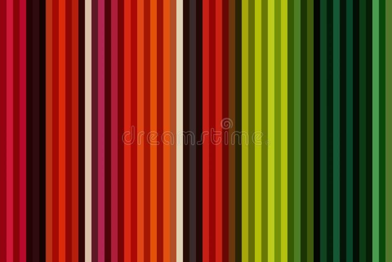 Ligne verticale colorée fond ou papier peint rayé sans couture, arc-en-ciel de papier illustration libre de droits