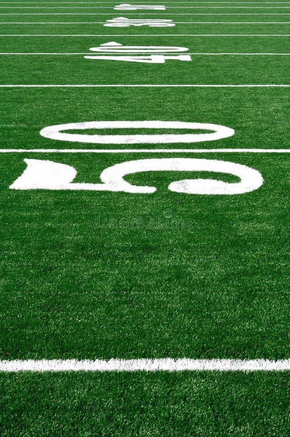 ligne yard du football de zone de 50 Américains images stock