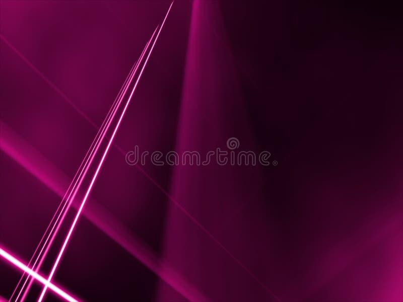 Lignes à angles par un brouillard rose illustration libre de droits
