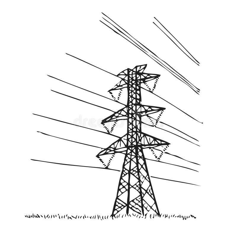 Lignes électriques illustration de vecteur