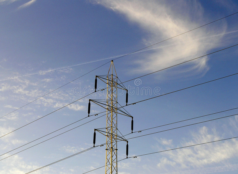 Download Lignes électriques photo stock. Image du électronique, pylône - 55818