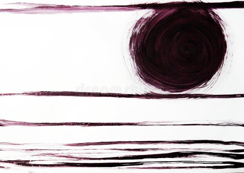 Lignes étroites tracées par le format et le cercle entiers Ordre merveilleux avec la perspective et l'harmonie illustration stock